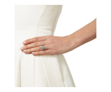 Siren Small Stacking Ring - Aquamarine Stack