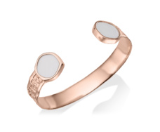 Rose Gold Vermeil Atlantis Cuff - White Chalcedony