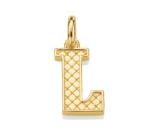 Gold Vermeil Alphabet Pendant L