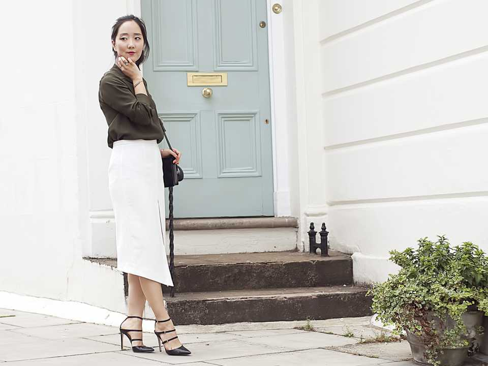 Shini Park wearing Monica Vinader in London
