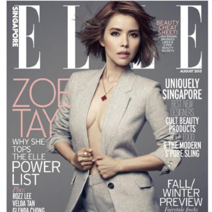 Alphabet collection featured in Elle Singapore