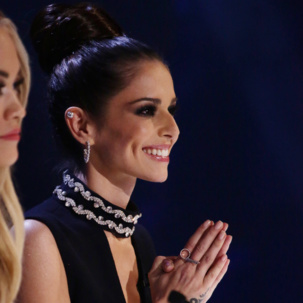 Cheryl Fernandez-Versini wears Naida & Skinny Collections on the X Factor Results show