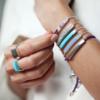 Linear Stone Bracelet - Amethyst - Monica Vinader