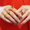 Gold Vermeil Petra Cocktail Ring - Pink Quartz - Monica Vinader