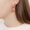 Gold Vermeil Petra Cocktail Earrings - Pink Quartz - Monica Vinader
