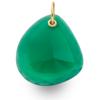 Gold Vermeil Siren Large Stone Pendant - Green Onyx - Monica Vinader