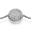 Ava Button Bracelet - Diamond - Monica Vinader