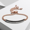 Rose Gold Vermeil Stellar Diamond Mini Bar Bracelet - Black Diamond - Monica Vinader