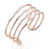 Rose Gold Vermeil Riva Hero Wave Cuff