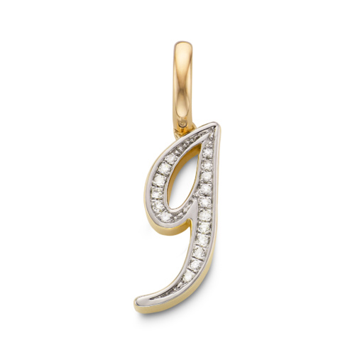 Gold Vermeil Diamond Alphabet Pendant G - Diamond - Monica Vinader
