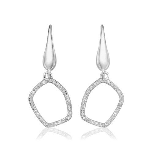Riva Mini Hoop Earrings - Diamond - Monica Vinader