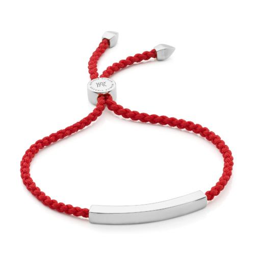 Linear Friendship Bracelet - Coral - Monica Vinader