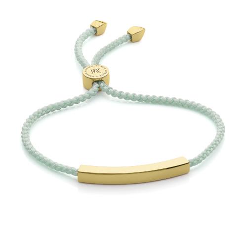 Gold Vermeil Linear Friendship Bracelet - Mint - Monica Vinader