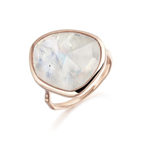 Rose Gold Vermeil Siren Ring - Moonstone - Monica Vinader