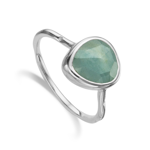 Siren Stacking Ring - Aquamarine