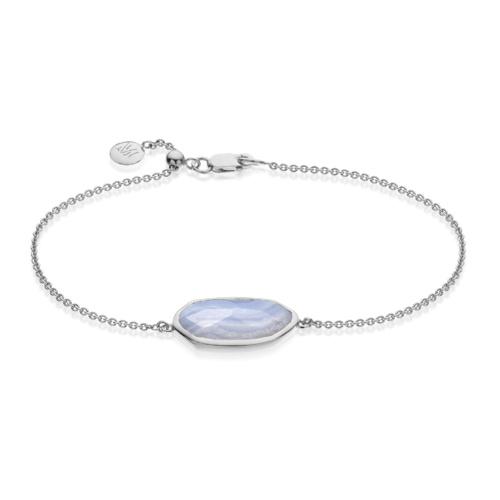 Capri Chain Bracelet - Blue Lace Agate - Monica Vinader