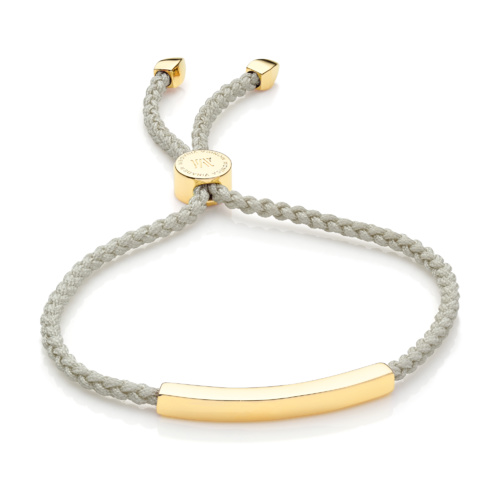 Gold Vermeil Linear Friendship Bracelet - Stone Cord