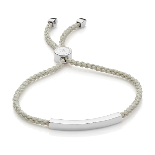 Linear Friendship Bracelet - Stone Cord