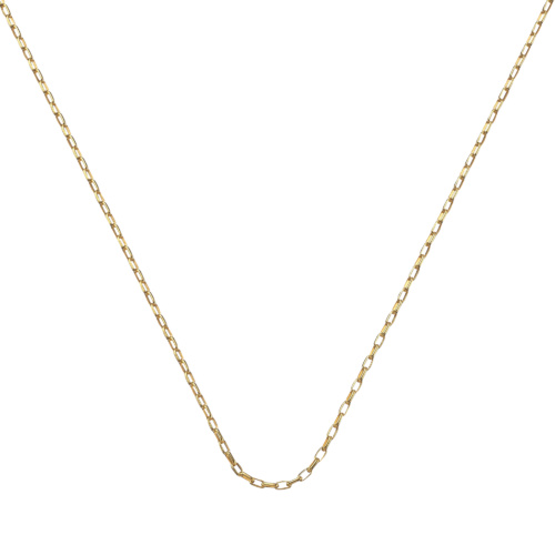 Gold Vermeil Fine Open Link Chain - 30