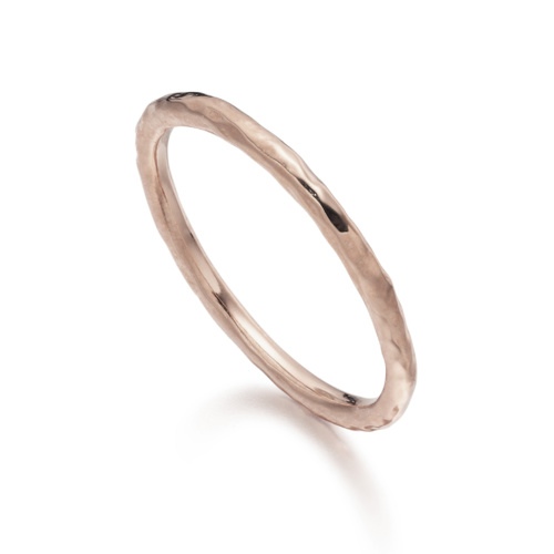 Rose Gold Vermeil Hammered Ring One