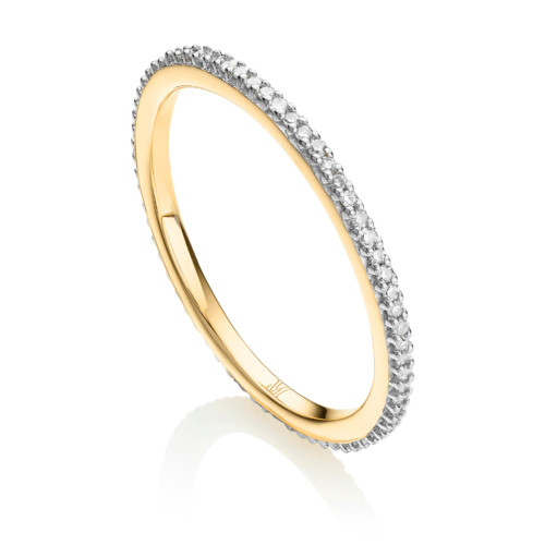 Gold Vermeil Skinny Eternity Ring - Diamond