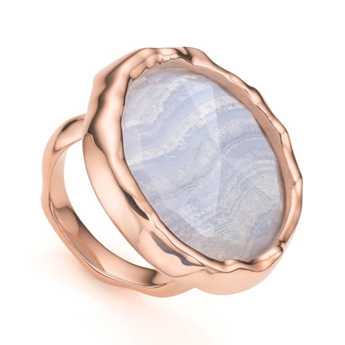 Rose Gold Vermeil Siren Cocktail Round Ring
