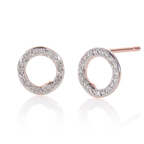 Rose Gold Vermeil Riva Circle Stud Earrings