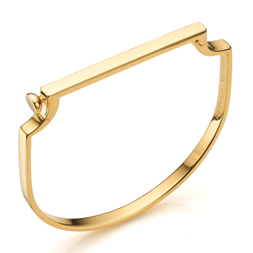 Gold Vermeil Signature Petite Thin Bangle - Monica Vinader